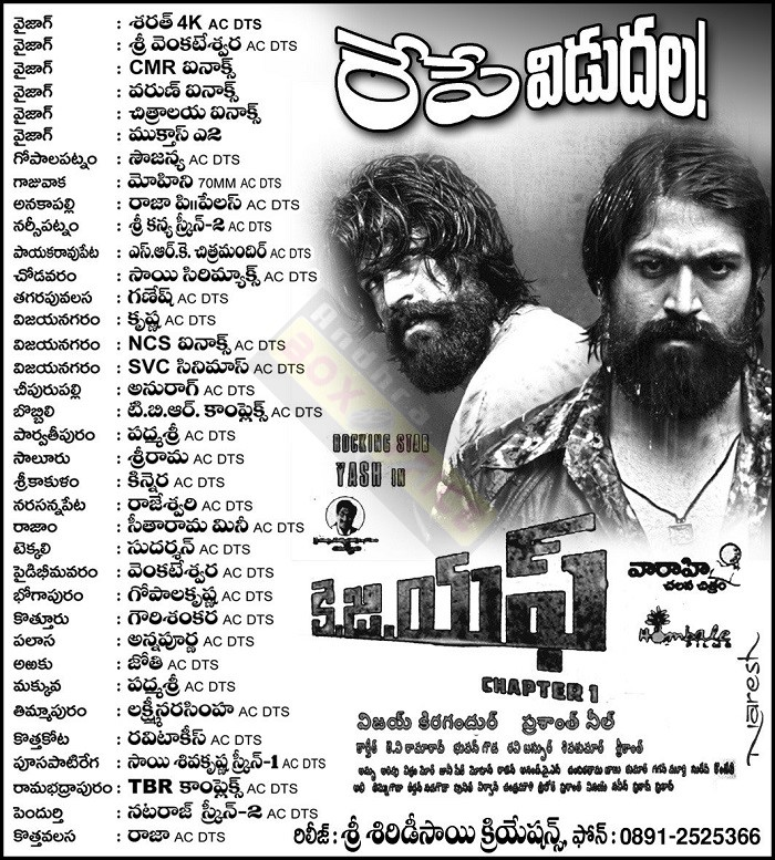 Andhraboxoffice collections kgf